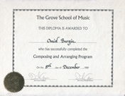 Grove_School of Music, Composition & Arranging Diploma