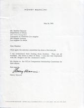 Henry Mancini Award Reference