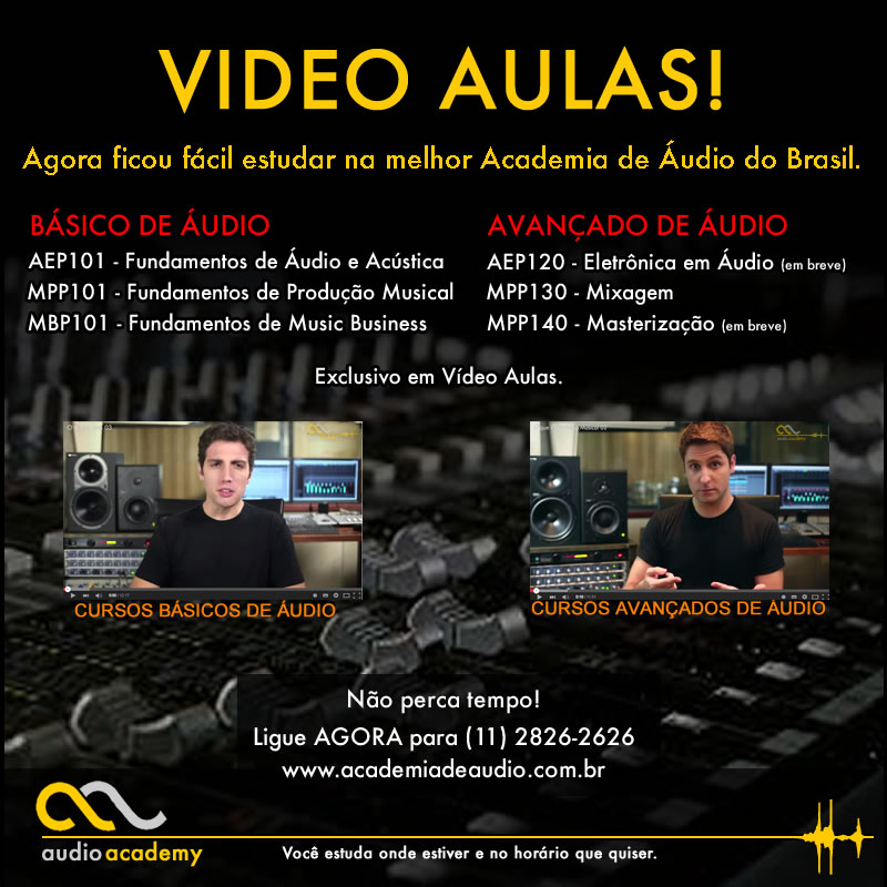 Video Aulas de Cursos de Audio e Acustica e Producao Musical