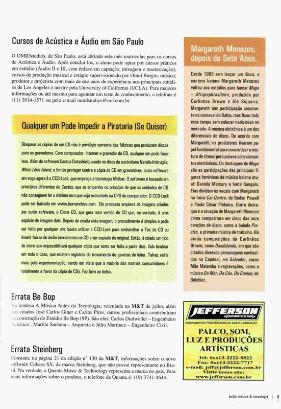 Áudio, Música & Tecnologia - Janeiro, 2002