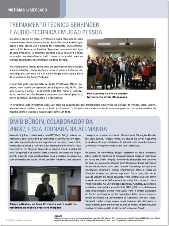 OMiD da Audio Academy na Revista Áudio Música & Tecnologia