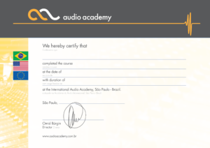 Audio Academy - Certificado